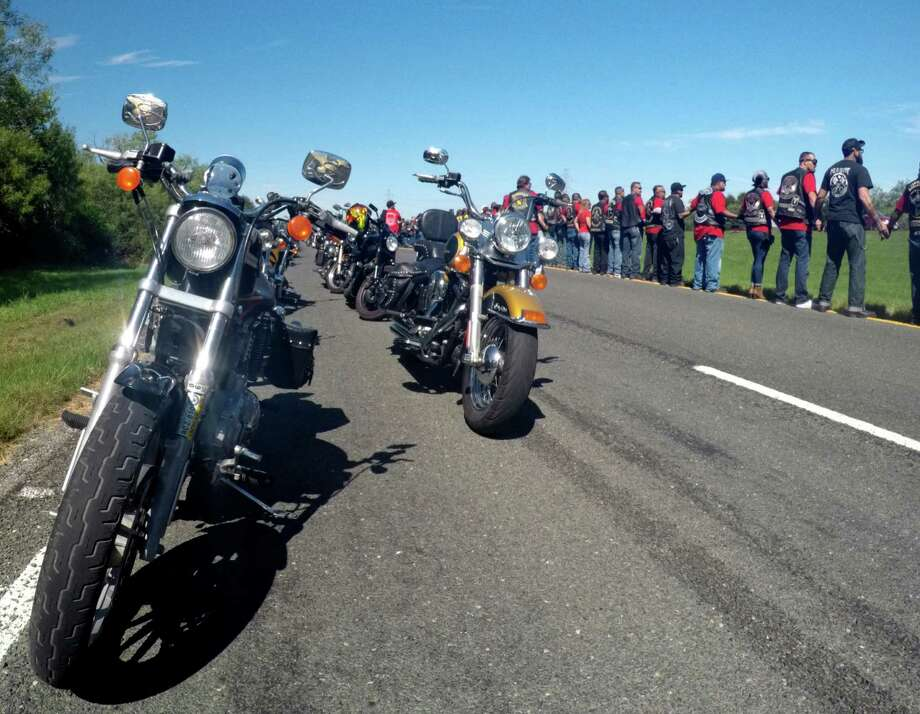 Bikers Ride Out To Site Of Fatal Crash During Memorial