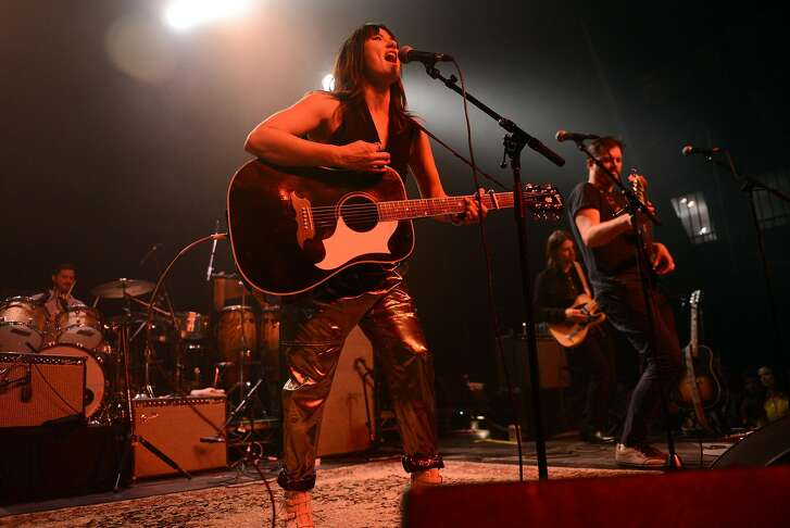LOS ANGELES, CA - FEBRUARY 09:  Singer KT Tunstall performs onstage at The Fonda Theatre on February 9, 2016 in Los Angeles, California.  (Photo by Scott Dudelson/WireImage)