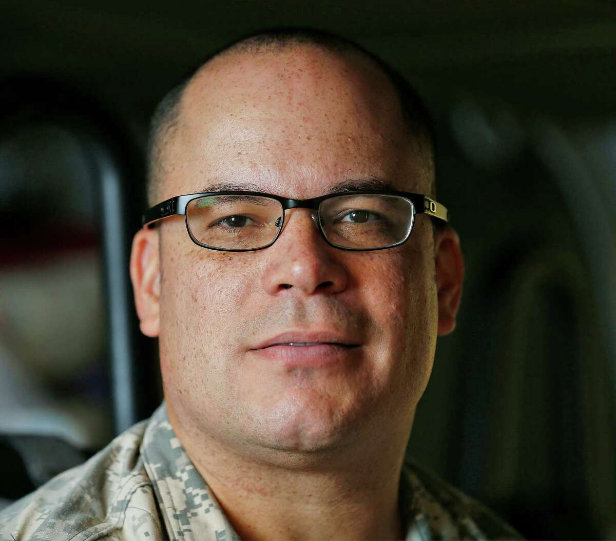 Maj. Mario Rivera has served in the U.S. Army since 9/11 and remain on duty on the 15th anniversary of the terrorist attacks in New York City. Rivera is posted at the Army Medical Department Center and School at Joint Base San Antonio - Fort Sam Houston. (Kin Man Hui/San Antonio Express-News)