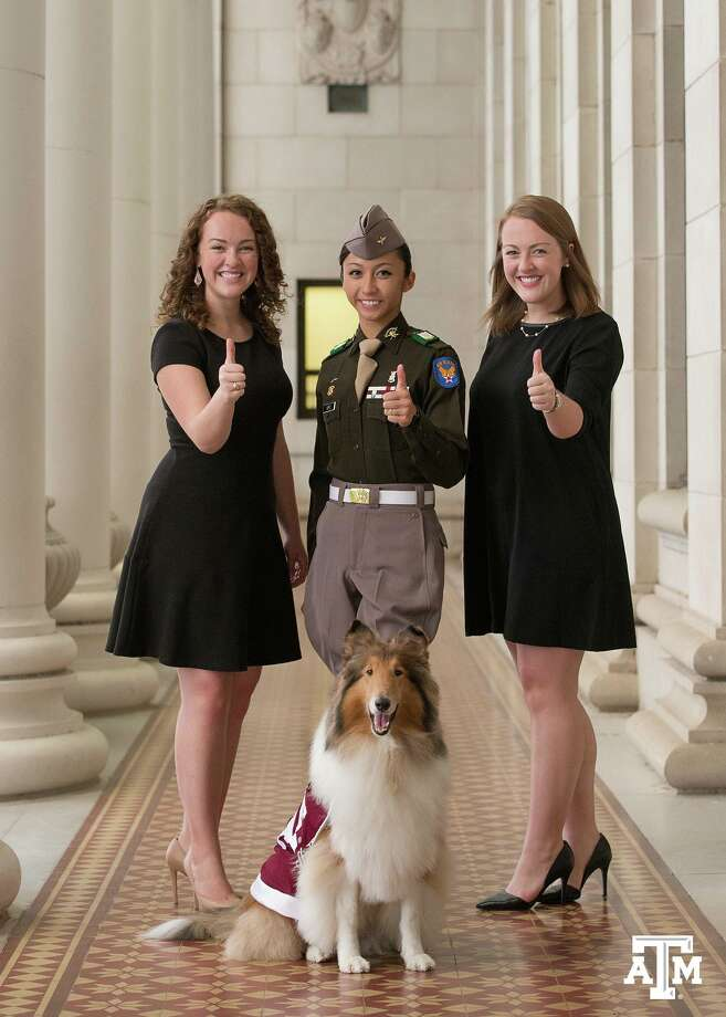 "From Texas A&M: ""Gig 'em to Student Body President Hannah Wimberly, Texas A&M Corps of Cadets Commander Cecille Sorio, Senior Class President Claire Wimberly, & Reveille, the First Lady of Aggieland!""Take a closer look at some of the secrets, myths and traditions of Texas A&M."