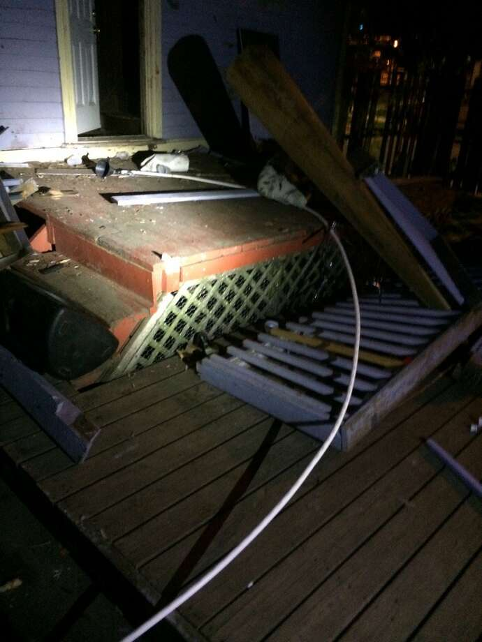 Twenty-eight students were taken to Hartford-area hospitals after a pair of decks collapsed during a house party near Trinity College in Connecticut. Photo: Courtesy Hartford Police Department, Deputy Chief Brian J. Foley, Twitter