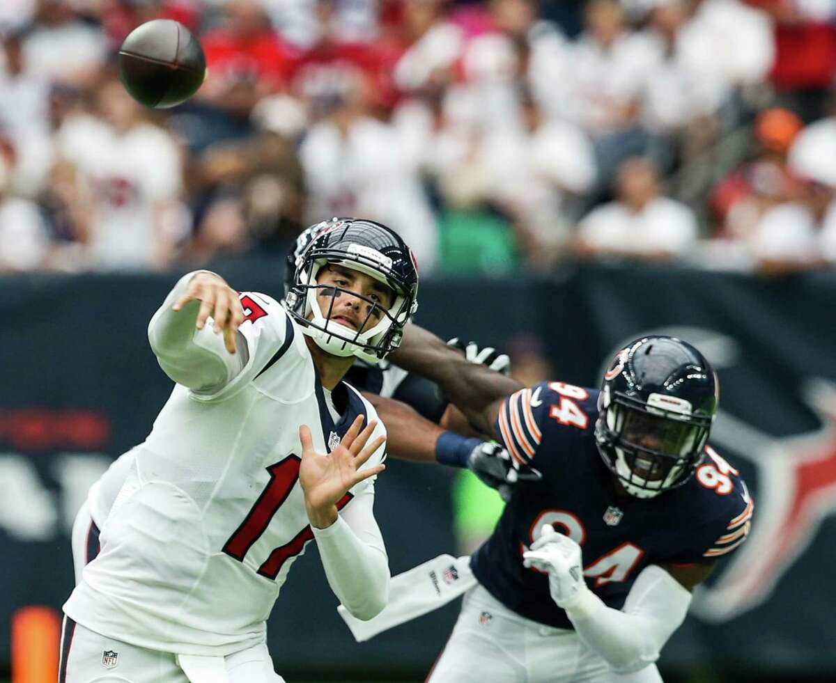 Quarterback Brock Osweiler overcame an interception on the first series to throw two touchdown passes, including an 18-yarder to Will Fuller that gave the Texans' a fourth-quarter lead. Grade: B-minus