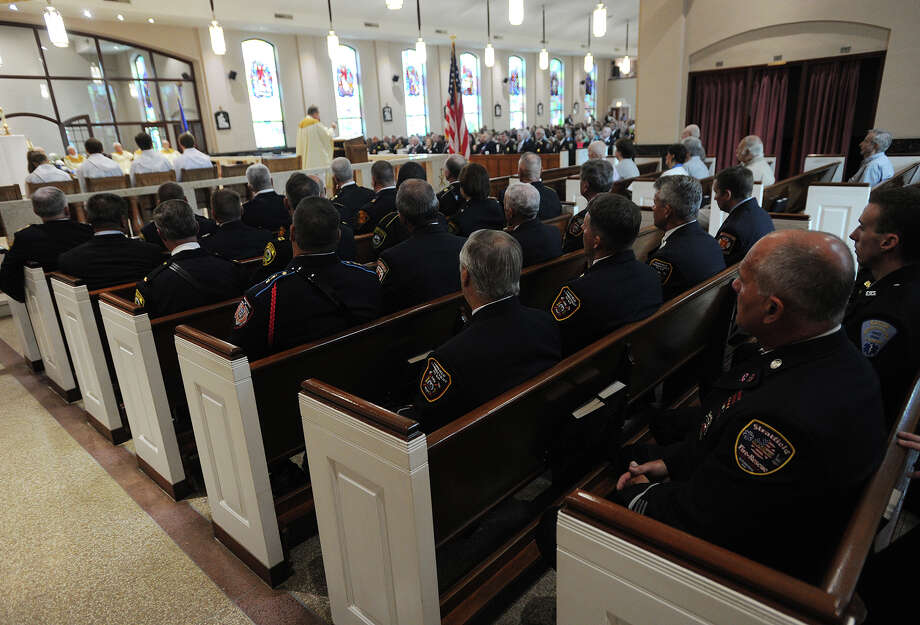 The annual Diocesan Blue Mass held this year at St. Thomas Aquinas Church in Fairfield, Conn. on Sunday, September 11, 2016. The mass in honor of members of law enforcement, fire, and emergency services personnel has been held at a different church in the diocese every year since the September 11, 2001 attacks. Photo: Brian A. Pounds, Hearst Connecticut Media / Connecticut Post