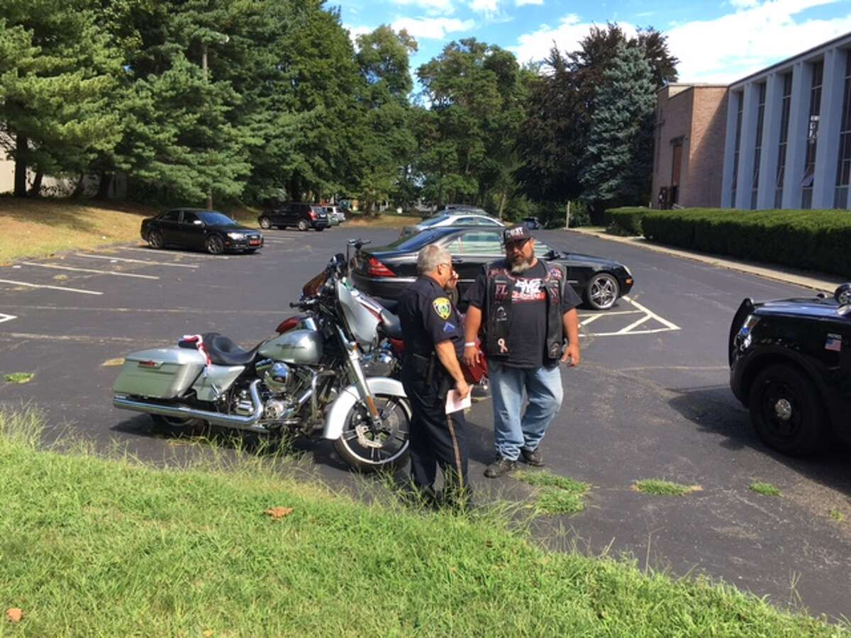A motorcycle crash Sunday afternoon during the annual CT United Ride to remember the 9/11 tragedy backed up the procession, startled onlookers and caused minor injuries.