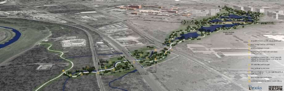 A rendering of the planned 43-acre park at Brooks City Base.Keep clicking to view other renovations and developments that will change San Antonio by 2020. Photo: Courtesy Brooks City Base
