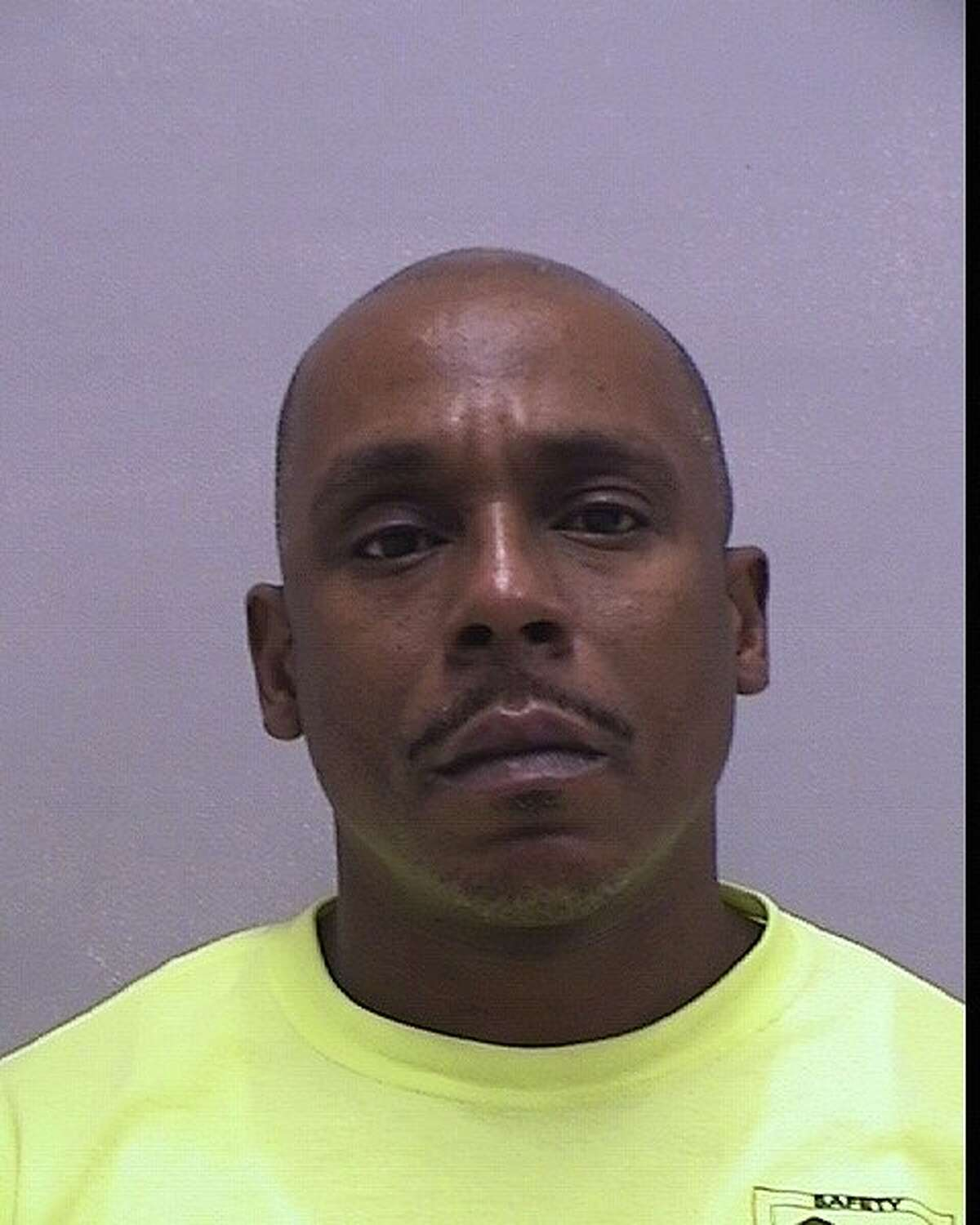Robert Greene, 45, of Hamden, is accused of blocking the exit of a business in Orange earlier this summer. Photo courtesy of the Orange Police Department.