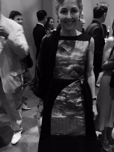 Sako Fisher in Tokyo Gamine dress by Yuka Uehara