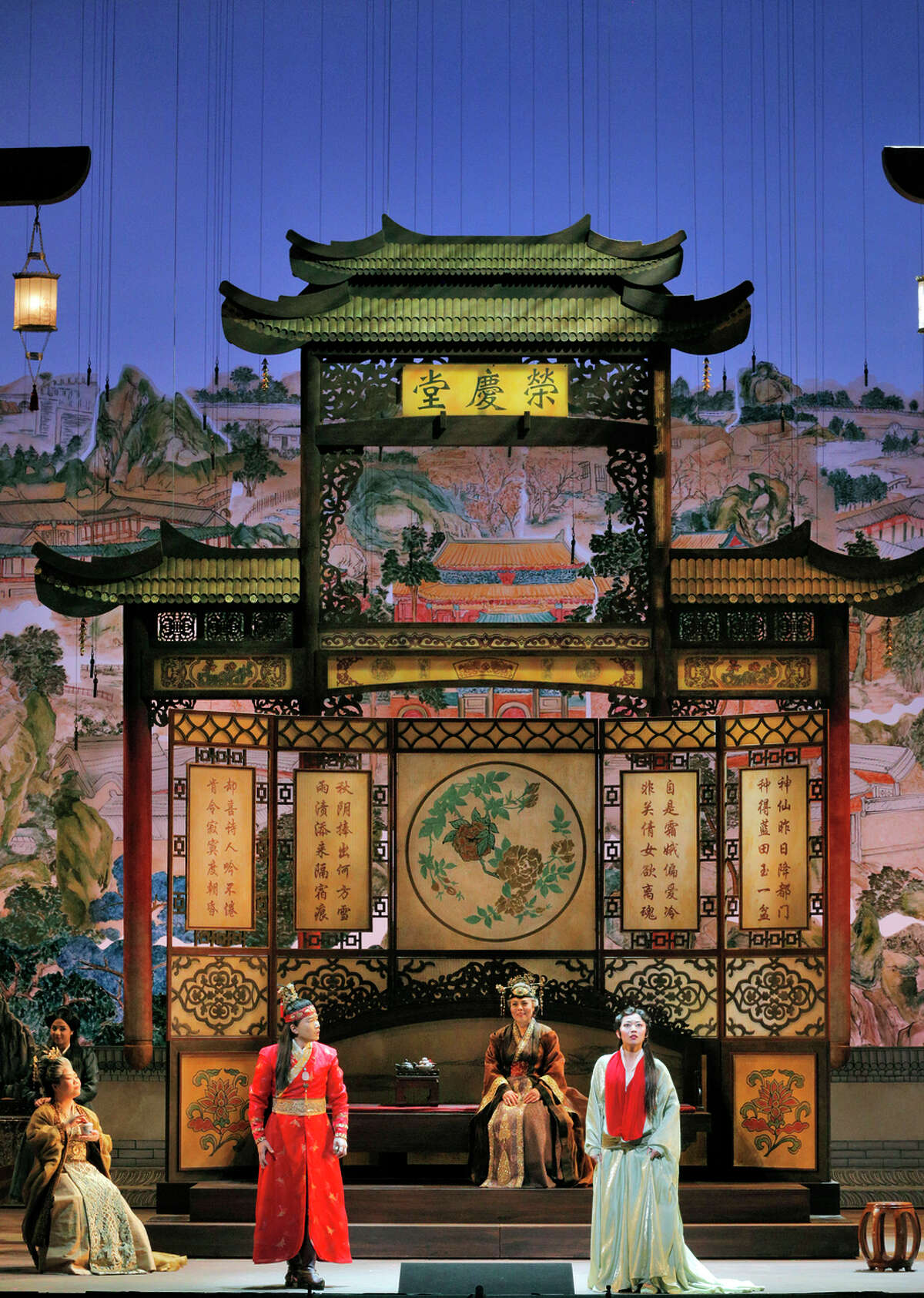 """An opulent stage provided a first-rate visual backdrop for S.F. Opera's production of """"Dream of the Red Chamber."""""""