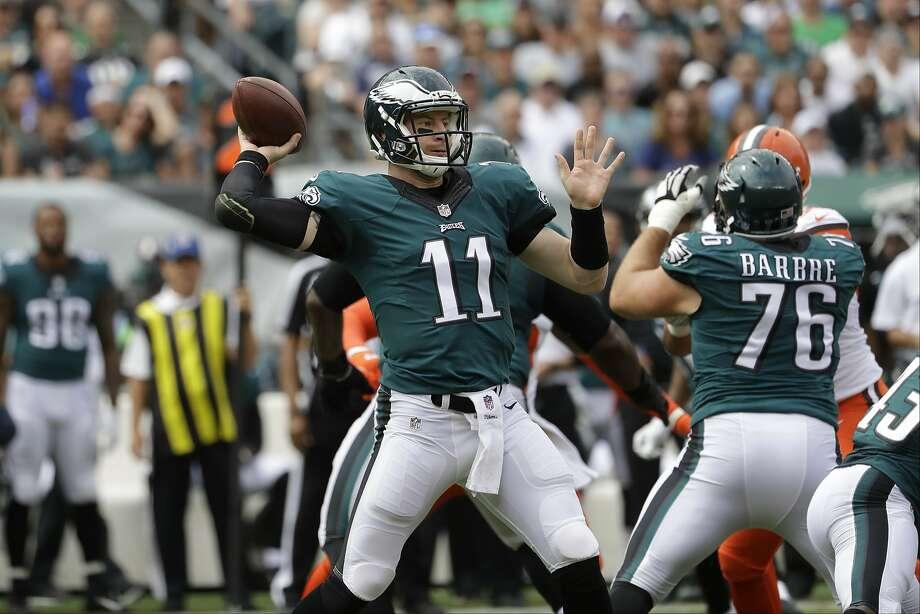 Carson Wentz Wentz had 278 yards passing and two touchdowns. Photo: Matt Rourke, Associated Press