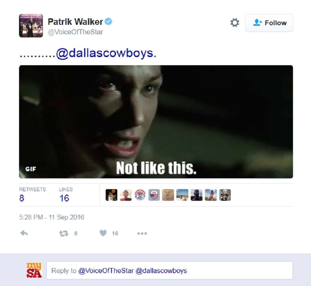 Dallas Cowboys fans vent their frustration on Twitter following a close loss to the New York Giants Sunday, Sept. 11, 2016.