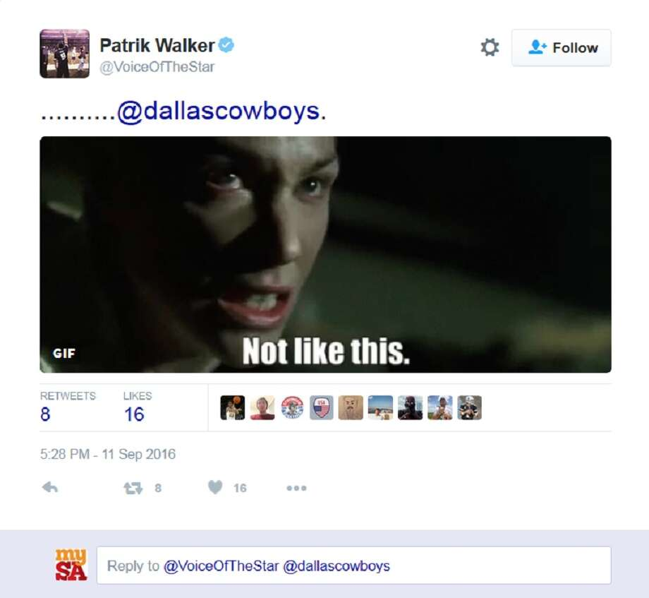 Dallas Cowboys fans vent their frustration on Twitter following a close loss to the New York Giants Sunday, Sept. 11, 2016. Photo: Twitter Screen Grab