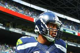 Russell Wilson takes the field before the Seahawks season opening game against Miami, Sunday, Sept. 11, 2016, at CenturyLink Field. Seattle won 12-10.