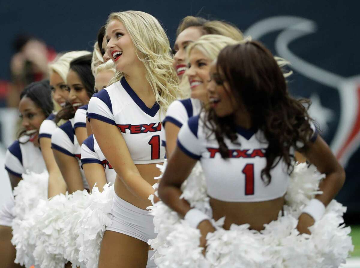 The Houston Texans Cheerleaders perform during the first half of an NFL football game Sunday, Sept. 11, 2016, in Houston. (AP Photo/David J. Phillip)