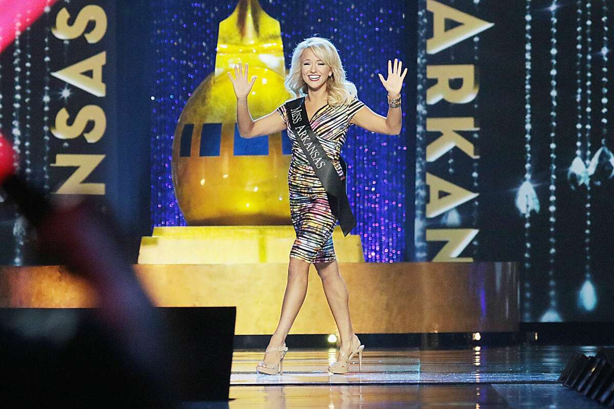 Miss Arkansas Savvy Shields appears onstage during the 2017 Miss America Competition at Boardwalk Hall Arena on September 11, 2016 in Atlantic City, New Jersey.