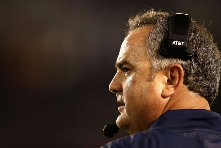 SAN DIEGO, CA - SEPTEMBER 10:  Head coach Sonny Dykes of the California Golden Bears looks on during the third quarter of a game against the San Diego State Aztecs  at Qualcomm Stadium on September 10, 2016 in San Diego, California.  (Photo by Sean M. Haffey/Getty Images)
