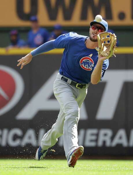 Besides third base, National League MVP frontrunner Kris Bryant has played all three outfield positions, first base and shortstop for the Cubs this season. Photo: Morry Gash, STF / Copyright 2016 The Associated Press. All rights reserved.