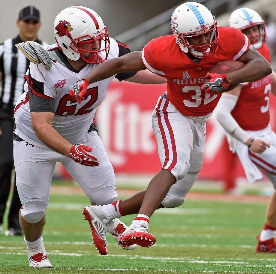 LAMAR UNIVERSITY BY THE NUMBERS0 The Cardinals' defense has yet to record a sack through two games Photo: Eric Christian Smith, FRE / FR171023 AP