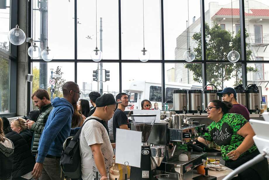 Amber Kakepoto (right) serves drinks at Boba Guys in S.F. Photo: Jen Fedrizzi, Special To The Chronicle