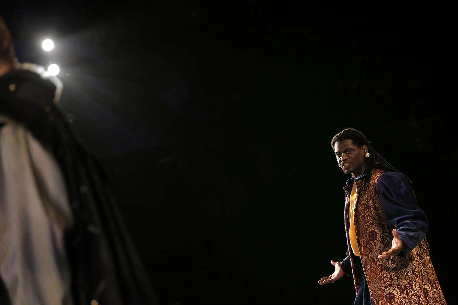 "Dameion Brown, a former prison convict, appears in ""Othello."" Photo: Carlos Avila Gonzalez, The Chronicle"