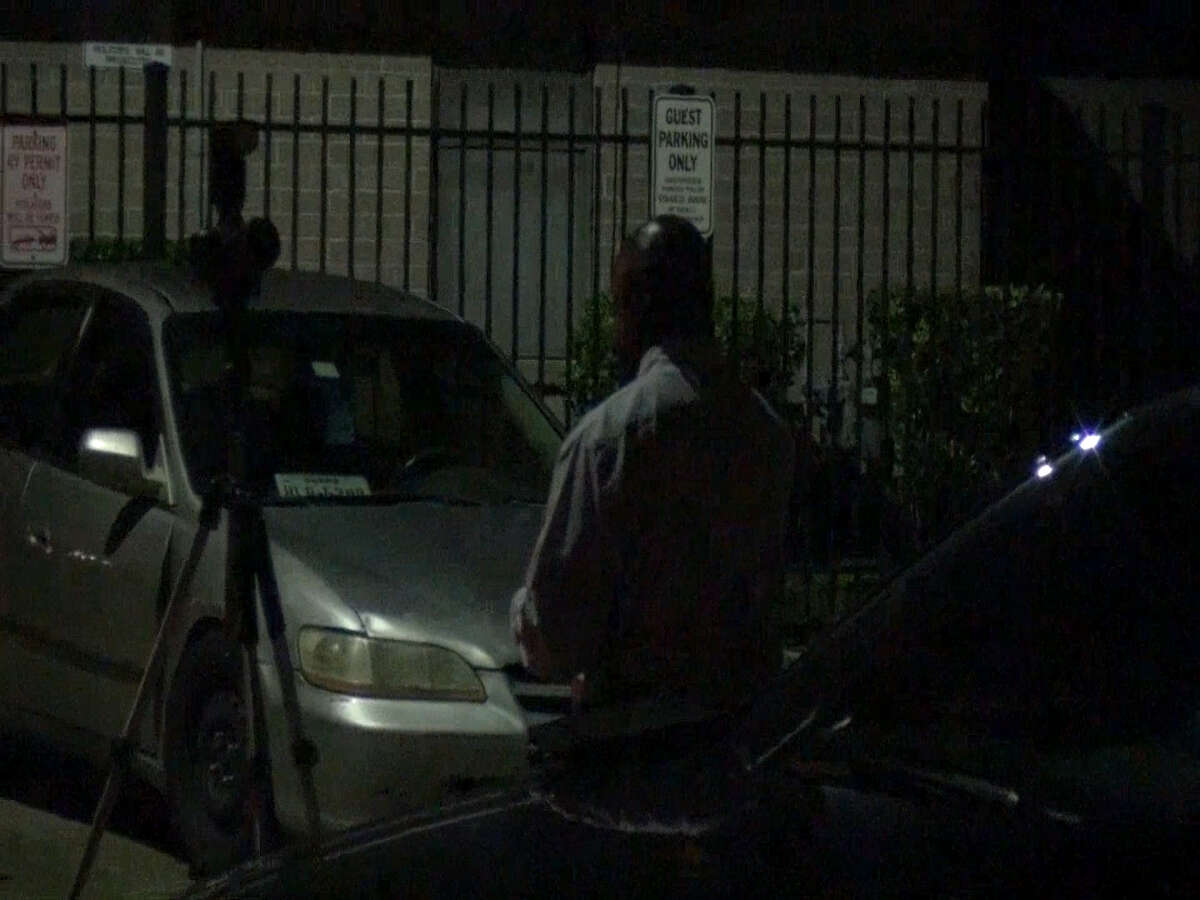 A screenshot of footage of the 6700 block of Long Drive near Chaffin Street in Houston, Texas. On Sept. 11, 2016, a pickup truck driver ran over a woman repeatedly at an apartment complex parking lot in the area. The woman survived but was said to be in