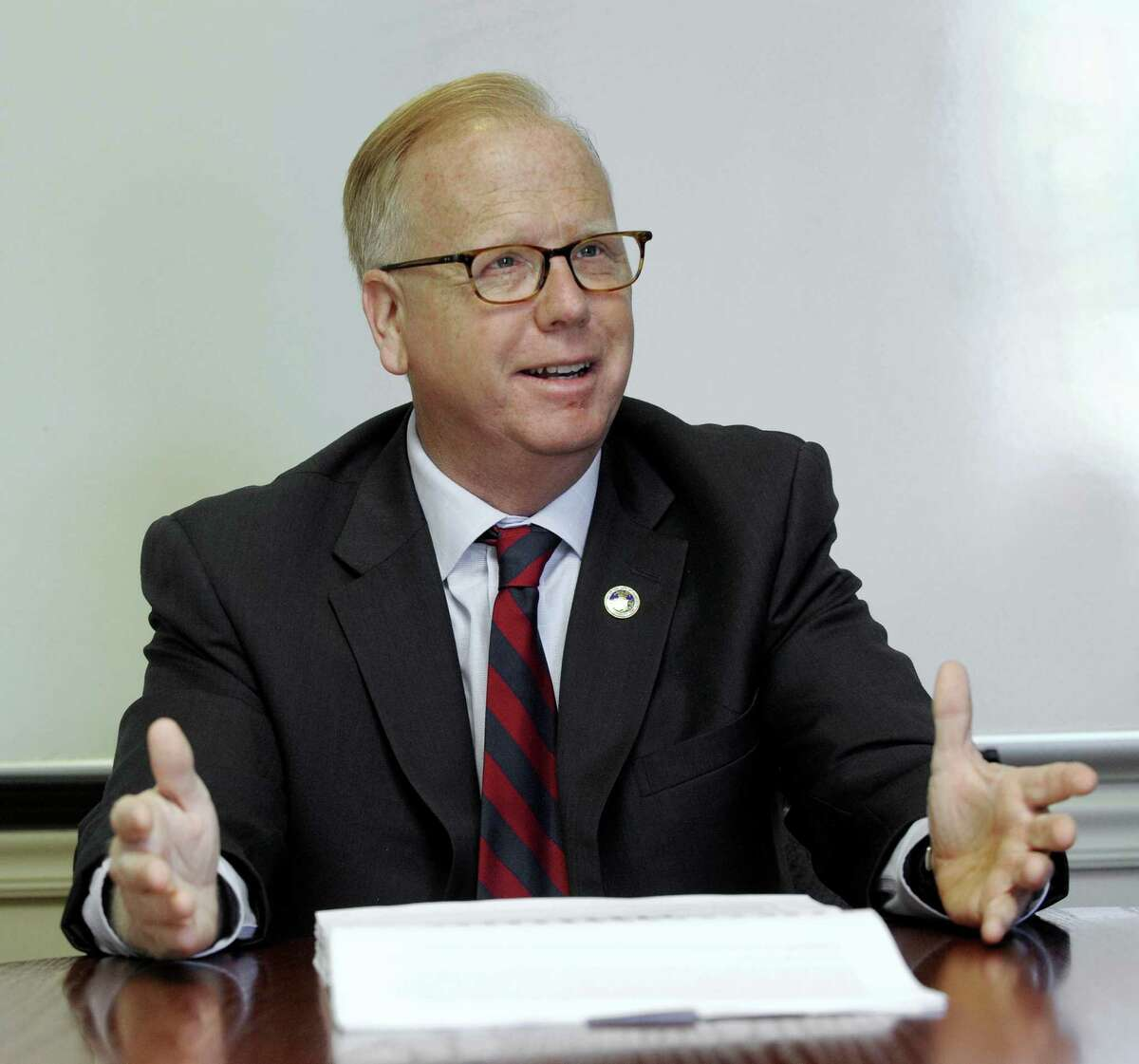 Danbury Mayor Mark Boughton is the current president of the Connecticut Conference of Municipalities, which released a new report Monday on the state's over-reliance on local property taxes.
