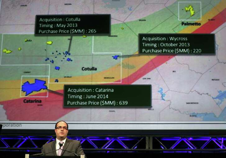 Sanchez Energy Chief Operating Officer Chistopher Heinson talks at  HART Energy's DUG Eagle Ford Conference in 2014.