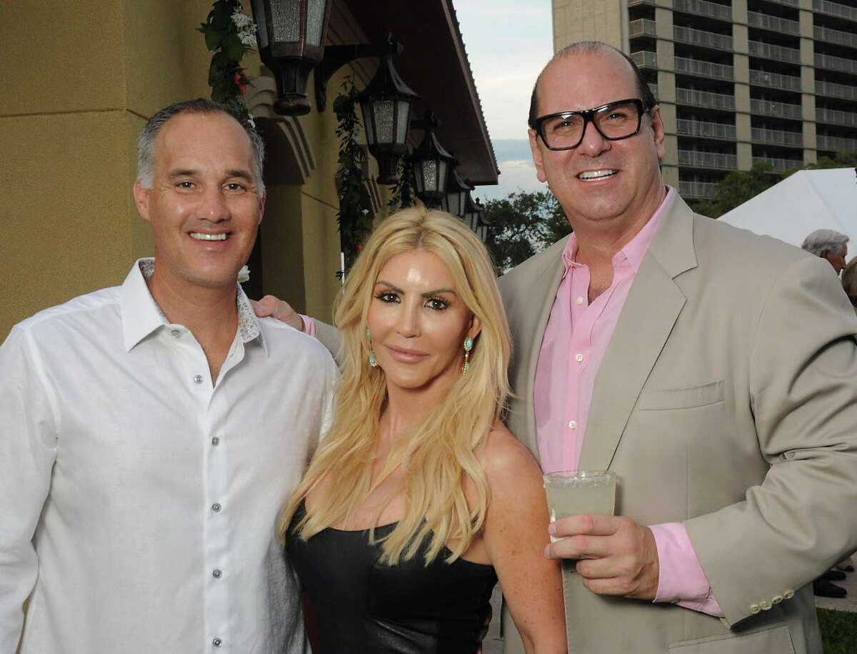 From left: Meredith and Danielle Cullen with Stewart Skloss at the Bryan Museum Gala in Galveston Saturday Sept. 10,2016. (Dave Rossman Photo)