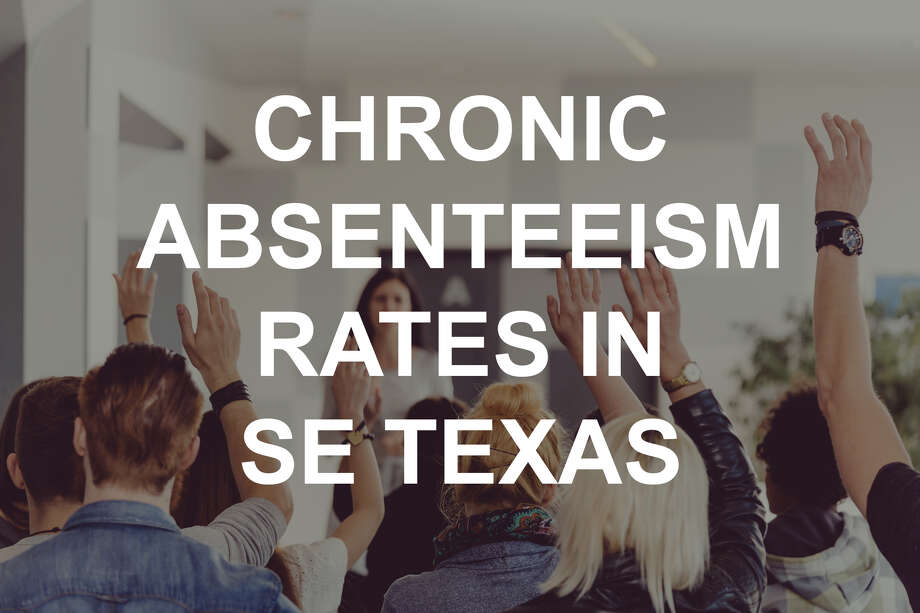 Chronic absenteeism in Southeast Texas school districts versus the national and state average.Source: U.S. Dept. of Education, Office of Civil Rights Photo: Izabela Habur/Getty Images