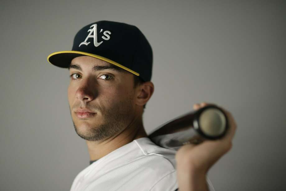 This is a 2016 photo of Matt Olson of the Oakland Athletics baseball team. This image reflects the Oakland Athletics active roster as of Monday, Feb. 29, 2016, when this image was taken. (AP Photo/Chris Carlson) Photo: Chris Carlson, AP