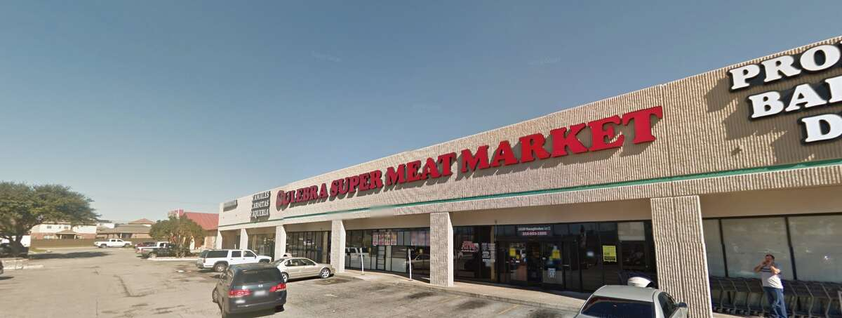Culebra Super Meat Market #16: 14100 Nacogdoches Road #172, San Antonio, TX 78233 Date: 09/12/2017 Score: 68 Highlights: Food not held at correct temperature; employee seen not washing hands correctly; inspector observed buildup of food debris on tongs used for bread; employee seen cracking raw eggs then handle ready-to-eat foods without changing gloves; poisonous/toxic materials seen stored near food areas; prepared foods must be marked with expiration date; broken ice scoop seen in rear kitchen area; employee seen handling food while wearing bracelets; bulk foods must be labeled properly; buildup of