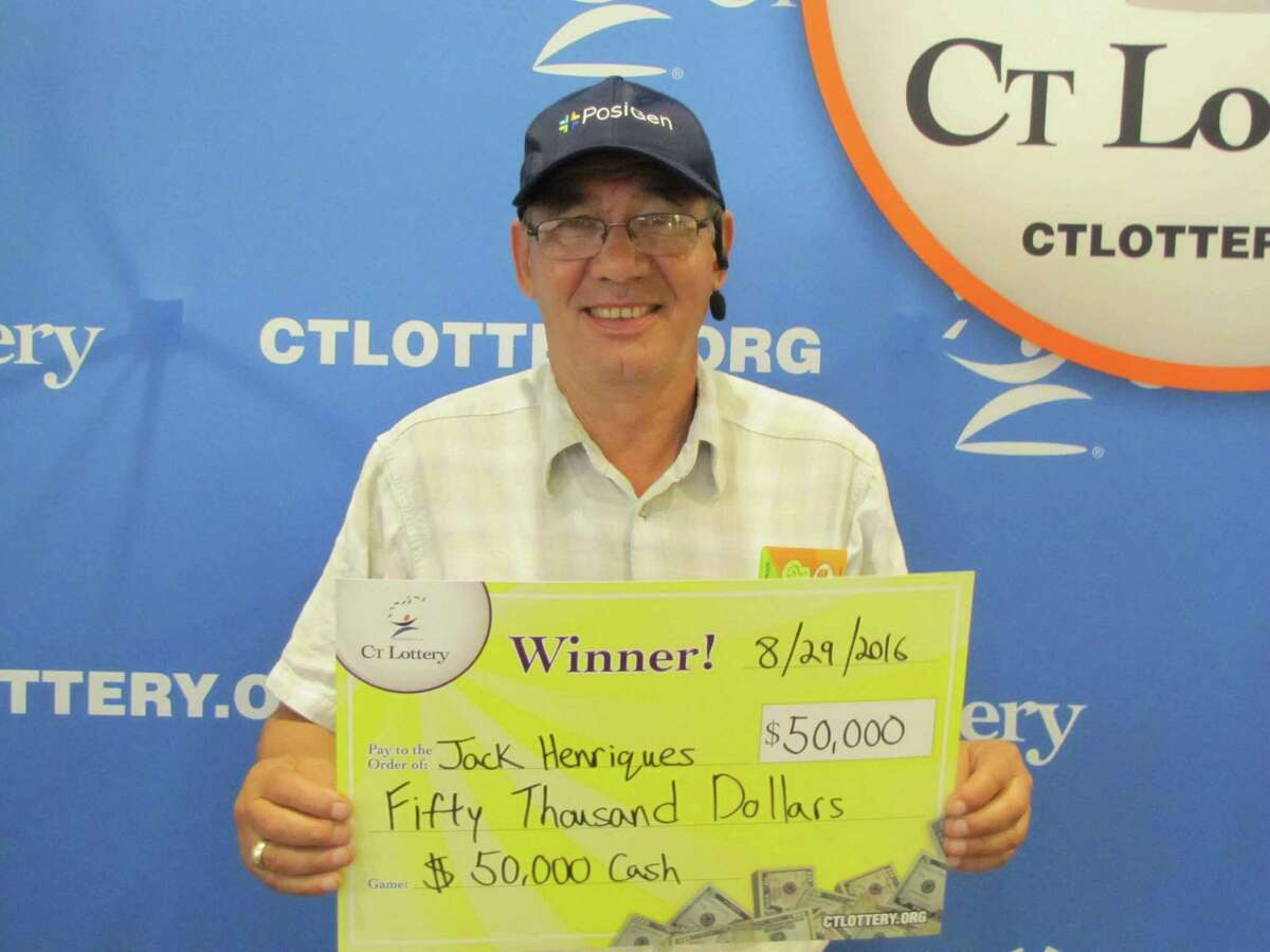 Jack Henriques of Seymour won $50,000 on a lottery ticket he purchased at City Gas in Bridgeport.