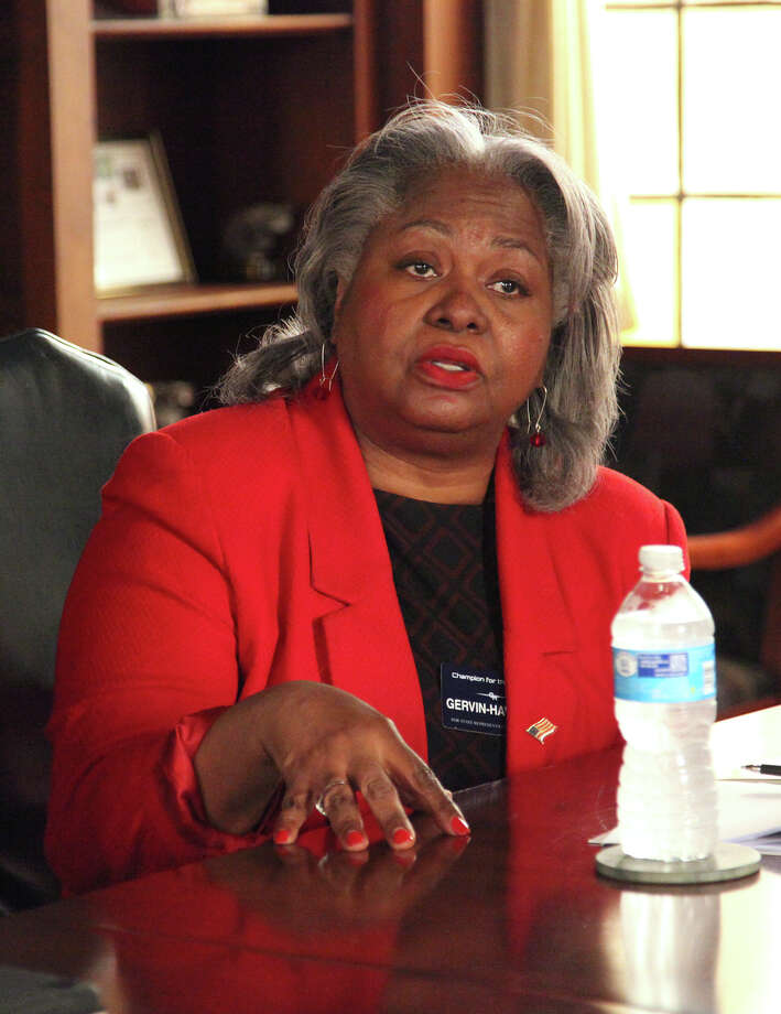 Democratic Texas House District 120 candidate Barbara Hawkins-Gervin talks with the Express-News editorial board Thursday January 14, 2016. Photo: JUANITO GARZA / San Antonio Express-News / San Antonio Express-News