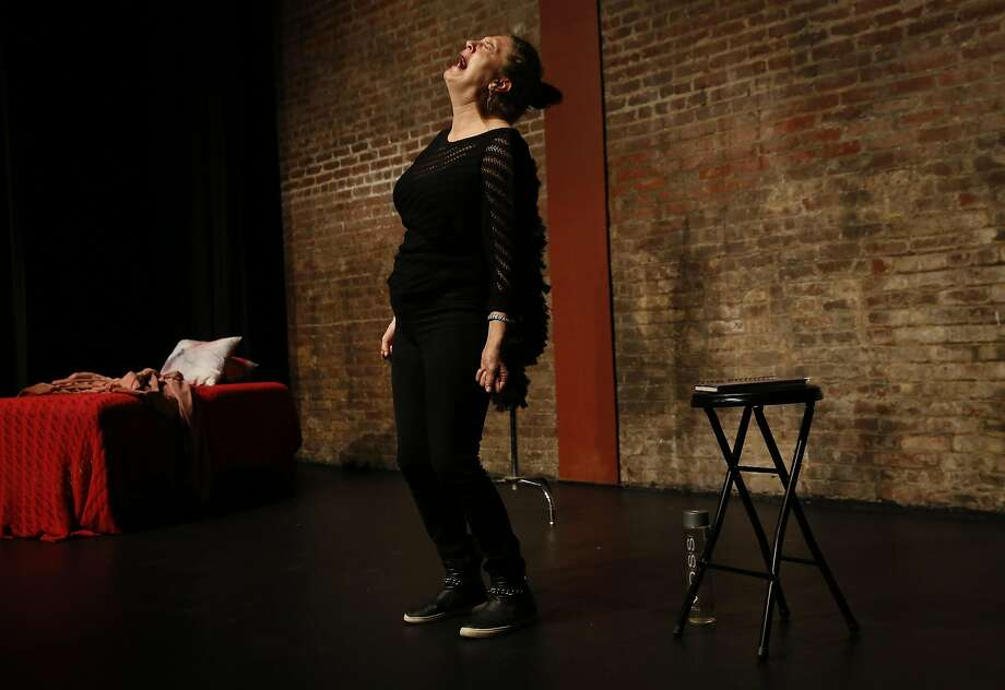 "Joyful Raven performs her show ""Tales of a Sexual Tomboy"" at the Exit Theatre in San Francisco. Photo: Leah Millis, The Chronicle"