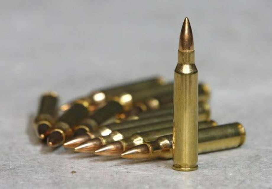 Ammunition for an AR-15 semiautomatic gun. Photo: George Frey, Getty Images