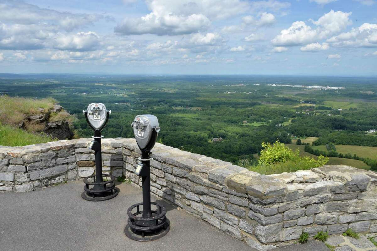 Cliff Edge Overlook at John Boyd Thacher State Park in Voorheesville, NY, Wednesday July 31, 2013. (John Carl D'Annibale / Times Union)