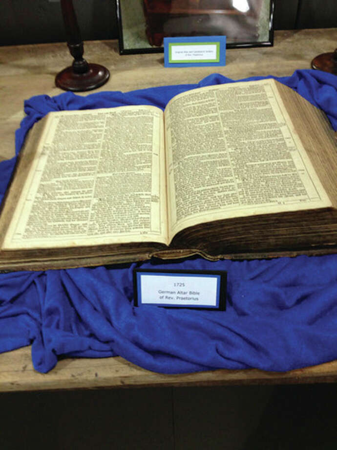 This German Bible was provided by Mary Otto, great granddaughter of Rev. C. Richard Praetorius. It dates back to 1725. (Submitted Photo)