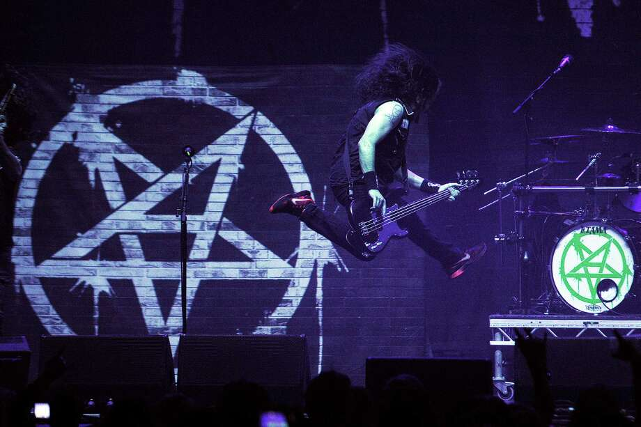 Anthrax, with bass guitarist/vocalist Frank Bello, above, will perform at the Revolution Rock Festival at Foxwoods Resort Casino on Saturday, Sept. 17. Photo: Andy Buchanan /Contributed Photo / © Andy Buchanan 2016 All Rights Reserved.  1/2  212 Battlefield Road Glasgow G42 9HN  07939 215079  andybuchanan@me.com