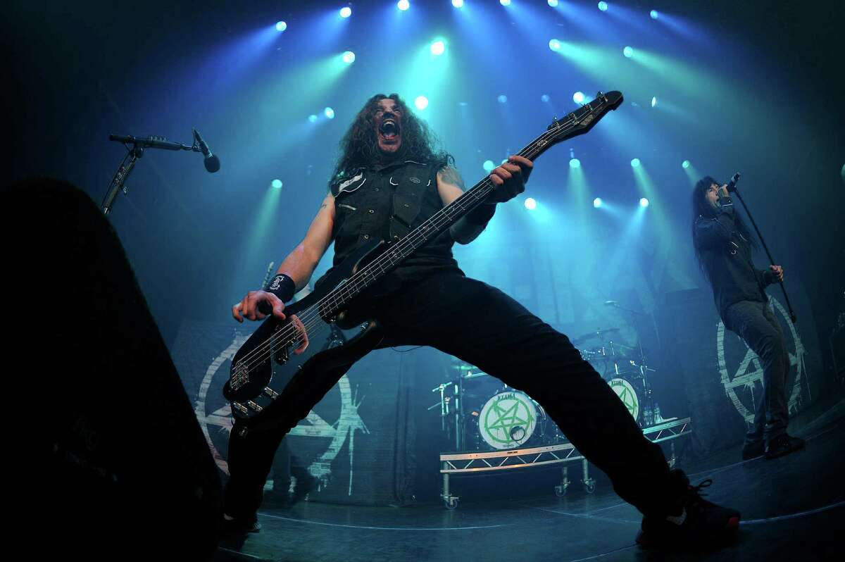 Anthrax, with bass guitarist/vocalist Frank Bello, above, will perform at the Revolution Rock Festival at Foxwoods Resort Casino on Saturday, Sept. 17.