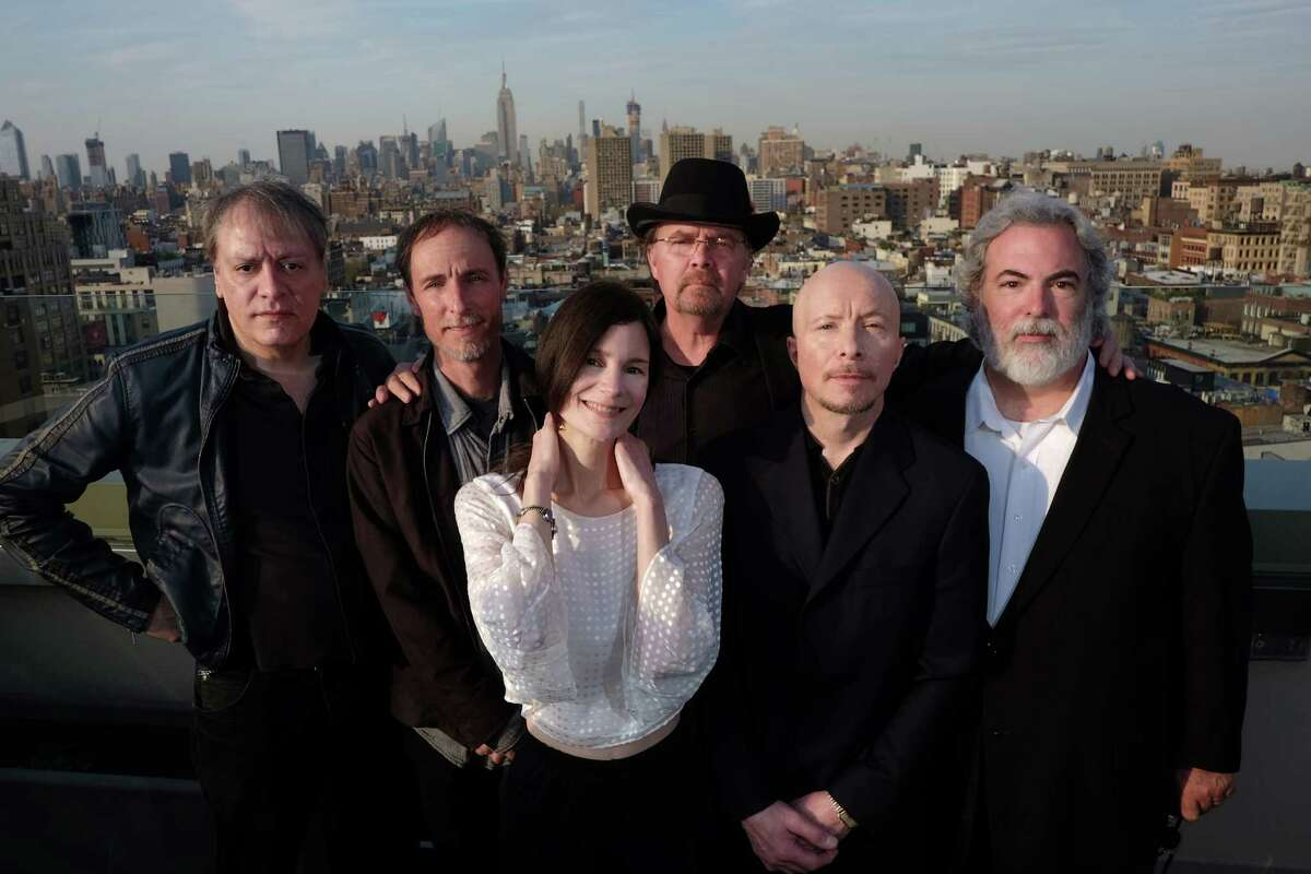Infinity Music Hall & Bistro in Hartford is where 10,000 Maniacs will perform on Friday, Sept. 16. From left are John Lombardo, Jeff Erickson, Mary Ramsey, Steve Gustafson, Jerry Augustyniak and Dennis Drew, at the Sheraton Tribeca Hotel in Manhattan, N.Y.