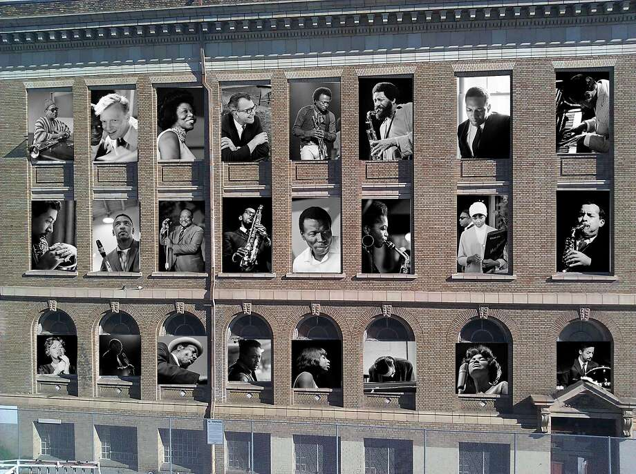 SFJazz has installed 24 portraits of jazz musicians by the late, great Jim Marshall in the building across the street. Photo: Courtesy Jim Marshall Estate And SFJAZZ