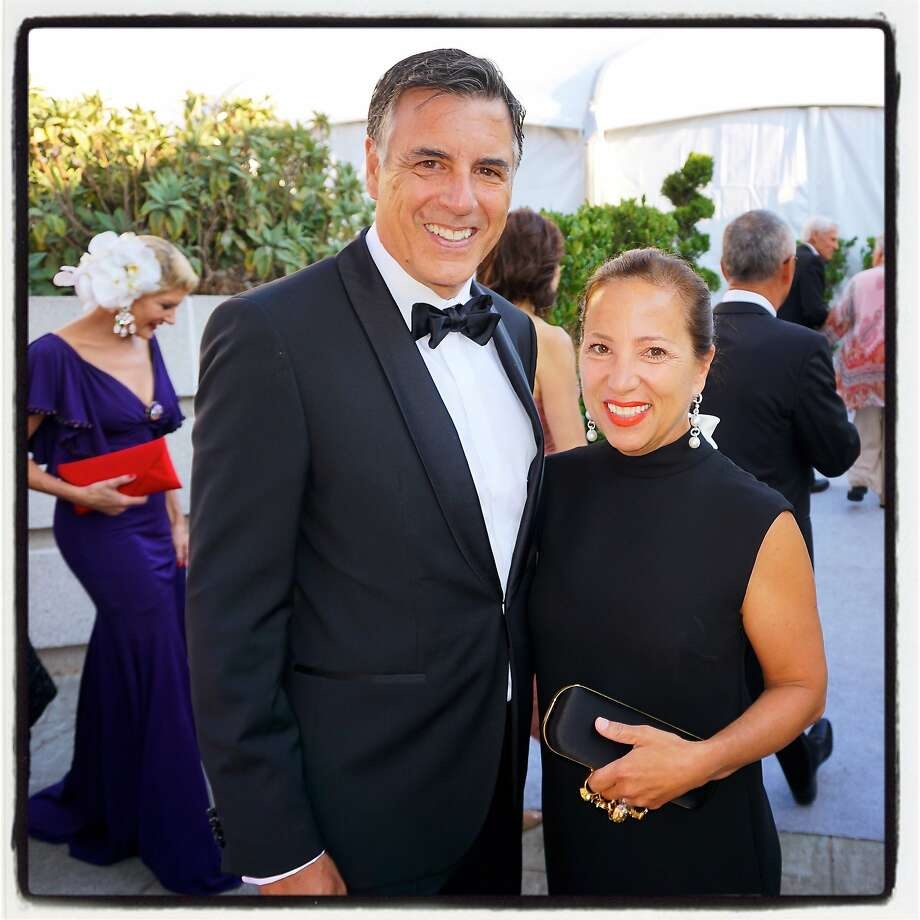 Eleni Tsakopoulos with husband Markos Kounalakis in September. Photo: Catherine Bigelow, Special To The Chronicle