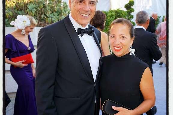 Markos Kounalakis and his wife, The Hon. Eleni Tsakopoulos  Kounalakis, at the SFS Gala. Sept 2016.