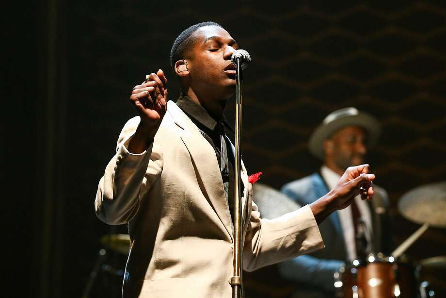 Leon Bridges performs in concert at The Wiltern on Saturday, March 19, 2016, in Los Angeles. (Photo by John Salangsang/Invision/AP) Photo: John Salangsang, John Salangsang/Invision/AP