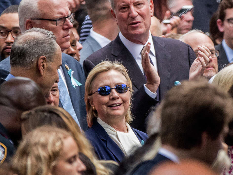 Democratic presidential candidate Hillary Clinton abruptly left the ceremony at the Sept. 11 memorial, in New York on Sunday. Her physician said the incident was related to pneumonia and dehydration. A reader criticizes the Democratic presidential nominee for belatedly announcing that she was suffering from pneumonia. Photo: Andrew Harnik /Associated Press / Copyright 2016 The Associated Press. All rights reserved.