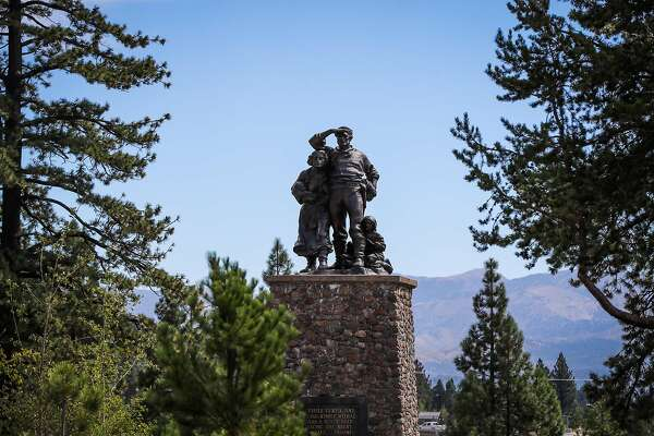 The Donner party memorial is seen at Donner Memorial State Park, in Truckee, California, on Friday, Sept. 2, 2016.