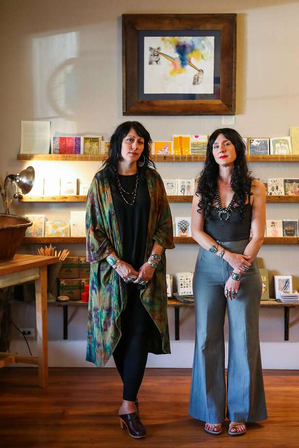 Lifelong friends Kira Westly (left) and Carrie Hawthorne own Kitkitdizzi. Photo: Gabrielle Lurie, Special To The Chronicle