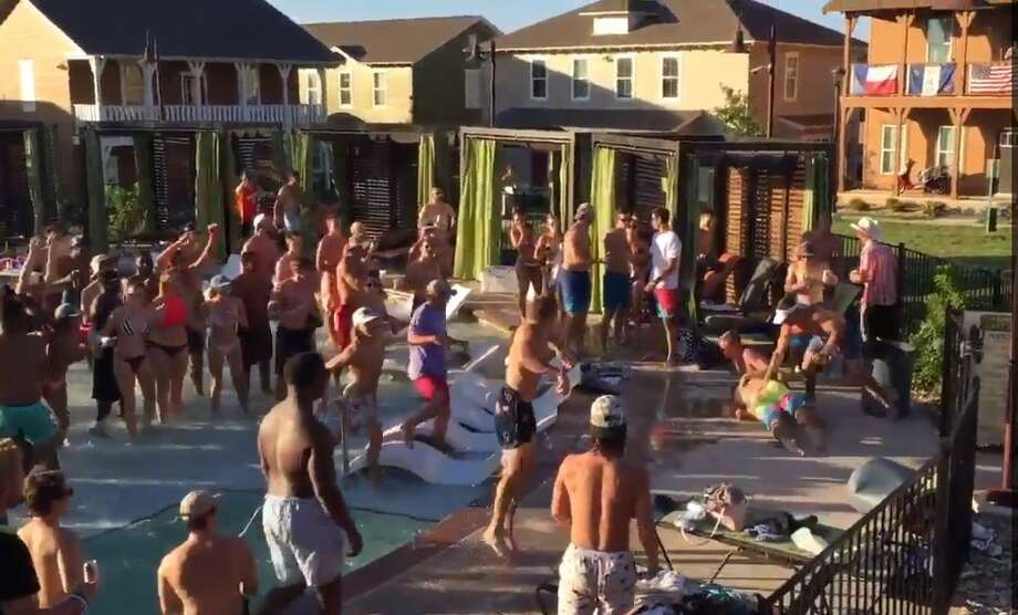 Twitter user, @WhiteBoy_Ejay, caught a brawl that happened on Sept. 10 at Capstone Cottages near Texas State University in San Marcos. City officials told mySA.com the incident was not reported. Photo: Twitter.com/WhiteBoy_Ejay