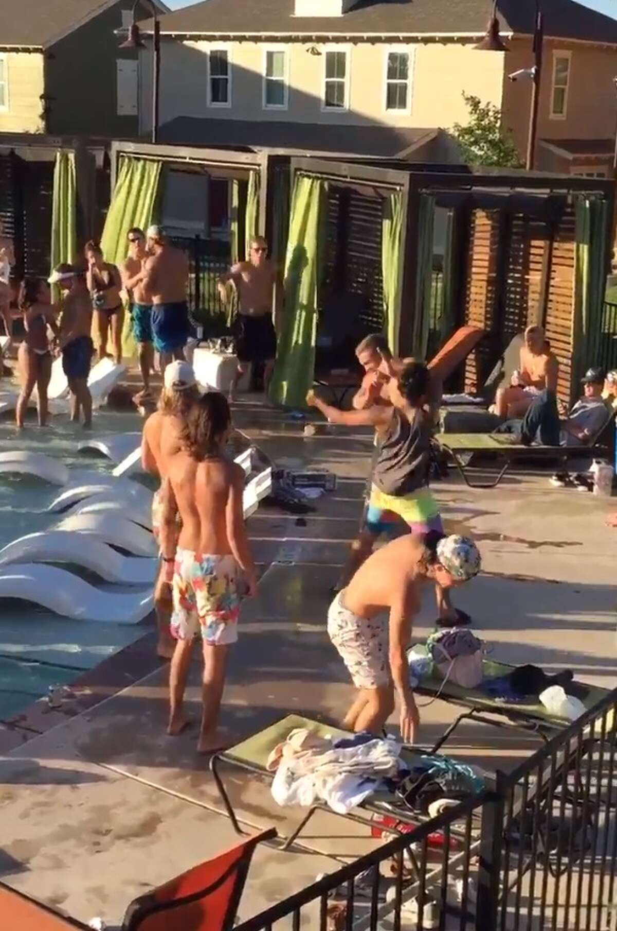 Twitter user, @WhiteBoy_Ejay, caught a brawl that happened on Sept. 10 at Capstone Cottages near Texas State University in San Marcos. City officials told mySA.com the incident was not reported.