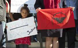 Camila Cortez, 4, the granddaughter of a farmworker, joins others at a rally calling for passage of a bill that would require farmworkers to receive overtime after working eight hours, starting in 2019, Thursday, Aug. 25, 2016, in Sacramento, Calif. The bill AB1066 by Assemblywoman Lorena Gonzalez, D-San Diego, is expected to be brought to a vote, Thursday.(AP Photo/Rich Pedroncelli)
