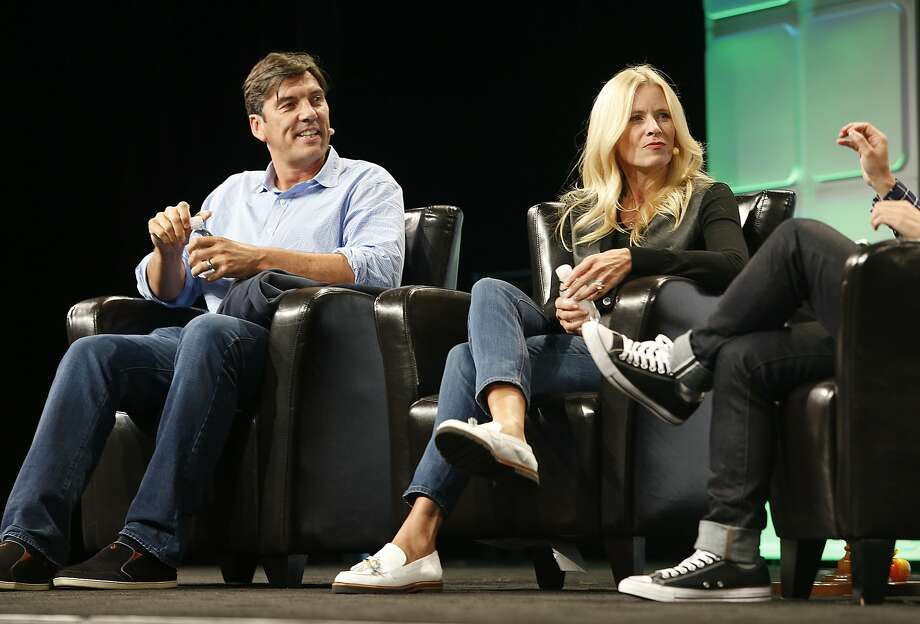 AOL's CEO Tim Armstrong and Verizon's Marni Walden speak at TechCrunch Disrupt on Monday, September 12, 2016, in San Francisco, Calif. Photo: Liz Hafalia, The Chronicle